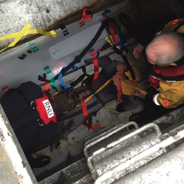 Saviour Stretcher engineer room confined space