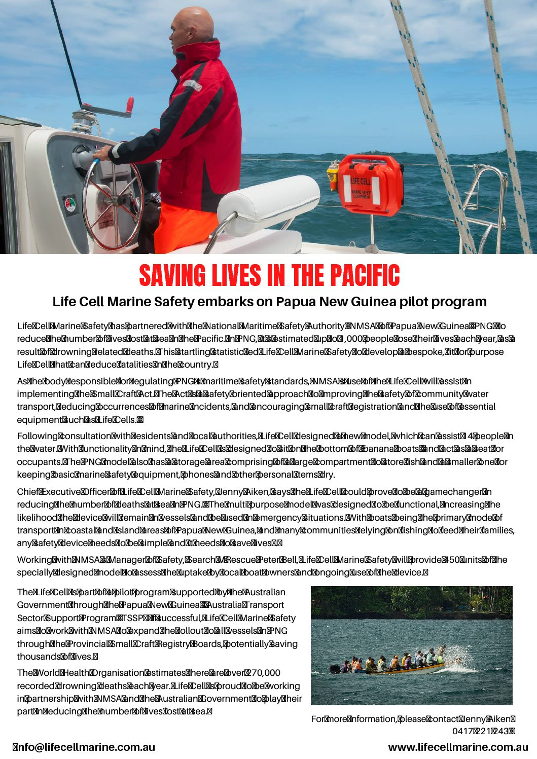 Life Cell PNG Pilot Press Release